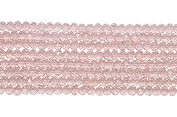 Chinese Crystal Polished 8x6mm Faceted Rondel - Baby Pink
