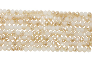 Chinese Crystal Polished 8x6mm Faceted Rondel - Champagne