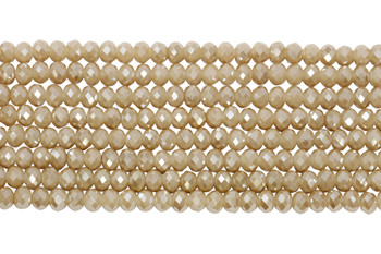 Chinese Crystal Polished 8x6mm Faceted Rondel - Sandstone