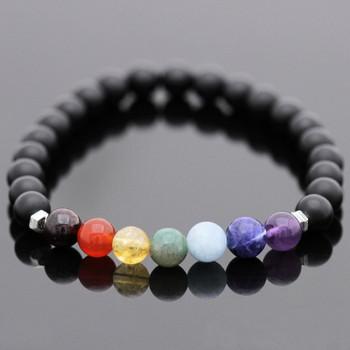 Chakra Stretch Bracelet Kit - Black Onyx Gemstones