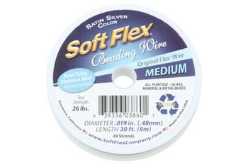 Soft Flex - Medium - Satin Silver - 30ft