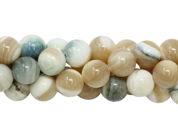 Green Mother of Pearl Polished 6mm Round