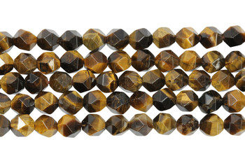 Tiger Eye Polished 6mm Star Cut