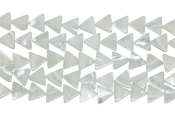 White Sea Shell Polished 12mm Triangle