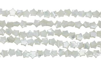 White Sea Shell Polished 10mm Flat Star
