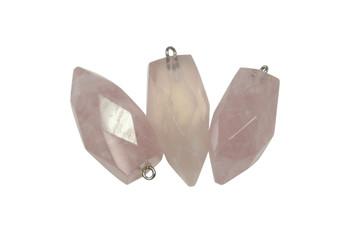 Rose Quartz Prism Pendant
