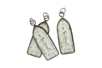 Framed Hindi 15x45mm Stone Amulet