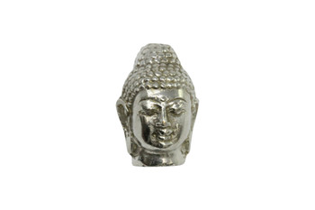 Silver Plated Brass 20x30mm Buddha Head - Large Hole
