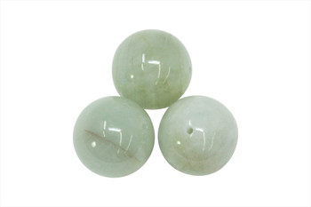 Green Aquamarine Polished 20mm Round