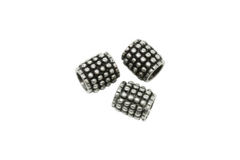 Stainless Steel 10x11mm Bead - Large Hole