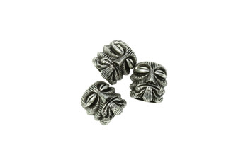 Stainless Steel 15mm Face Bead - Large Hole