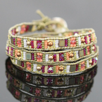 Eastern Treasures Triple Leather Wrap Bracelet Kit