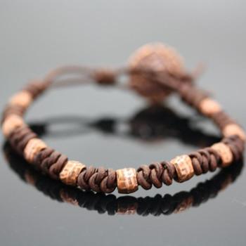 Spanish Knot Bracelet Kit: Brown and Copper