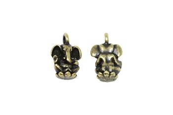 Ganesh Charm - Brass Plated