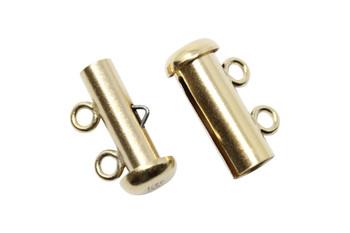 Gold Filled 2 Strand Slide Clasp