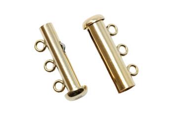 Gold Filled 3 Strand Slide Clasp