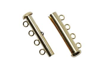 Gold Filled 4 Strand Slide Clasp