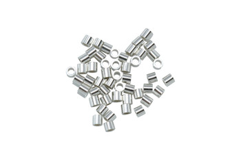 Sterling Silver 1x1mm Micro Crimps - 50 Pieces
