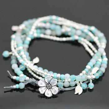 Falling Leaves Bracelet Kit - Soft Cyan