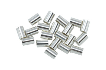 Sterling Silver 2x3mm Crimps - 20 Pieces