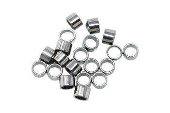 Gunmetal 2x2mm Crimps - 20 Pieces