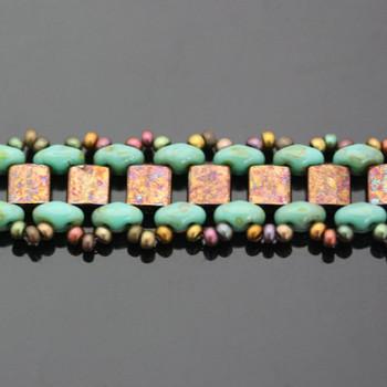 Garden Path Bracelet Kit - Turquoise & Bronze