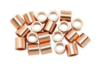 Copper 3x3mm Crimps - 20 Pieces