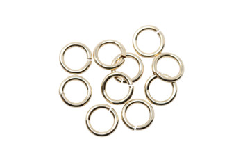14K Gold Filled 4mm Round 22 Gauge OPEN Jump Rings - 10 Pieces