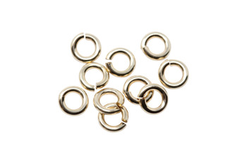 14K Gold Filled 4mm Round 19 Gauge OPEN Jump Rings - 10 Pieces