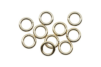 14K Gold Filled 5mm Round 19 Gauge CLOSED Jump Rings - 10 Pieces