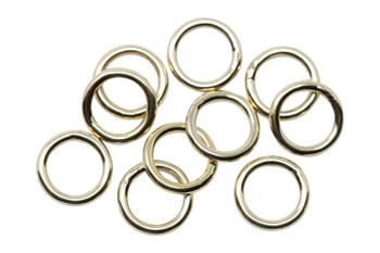 14K Gold Filled 6mm Round 19 Gauge CLOSED Jump Rings - 10 Pieces