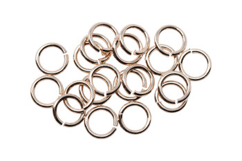 Rose Gold Plated 6mm Round 21 Gauge OPEN Jump Rings - 20 Pieces