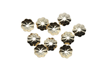 14K Gold Filled 5mm Flower Bead Caps - 10 Pieces