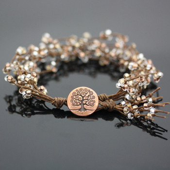 Metallic Tree of Life Bracelet