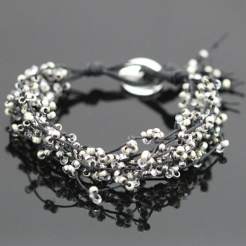 Tree of Life Bracelet Kit - Black and Silver