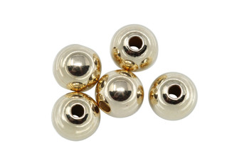 14K Gold Filled 6mm Round Beads - 5 Pieces