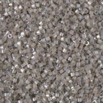 Delicas Size 11 Miyuki Seed Beads -- 1877 Dyed Pewter AB Silk
