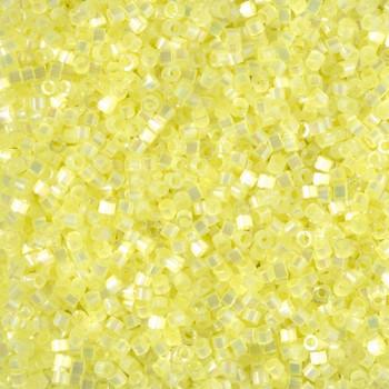 Delicas Size 11 Miyuki Seed Beads -- 1873 Dyed Citron AB Silk