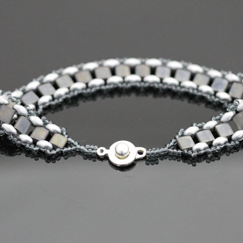 Garden Path Bracelet Kit - Slate and Silver