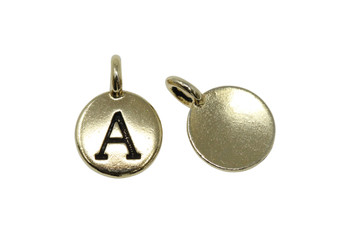 A Alphabet Charm - Gold Plated