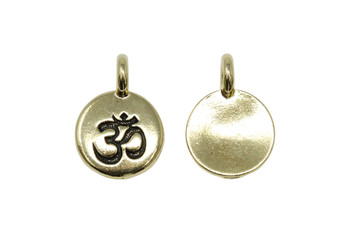 Om Charm - Gold Plated