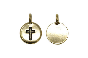 Cross Charm - Gold Plated