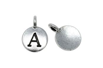 A Alphabet Charm - Silver Plated