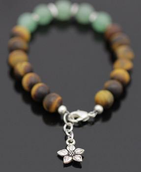 Modern Gemstone Bracelet Kit - Aventurine & Matte Tiger's Eye