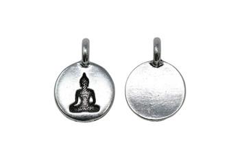 Buddha Charm - Silver Plated