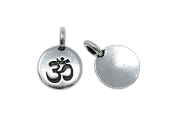 Om Charm - Silver Plated