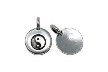 Yin Yang Charm - Silver Plated