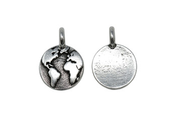 Earth Charm - Silver Plated