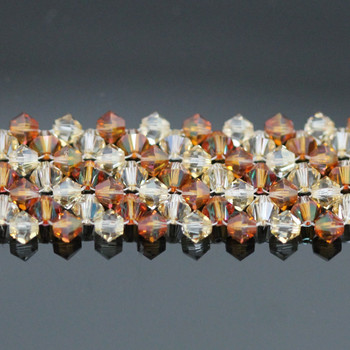 Multi Row Right Angle Weave Bracelet Kit - Copper & Gold