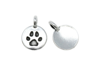 Paw Charm - Silver Plated